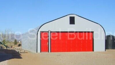 Durospan Steel 32x40x14 Metal Garage Home Shop Diy Building Kit Open Ends Direct