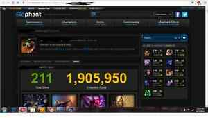 League of Legends account 116 Champions 211 Skins