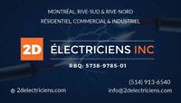 Électriciens pour tous vos travaux