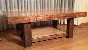 Large rustic coffee table,reclaimed maple 195$!!