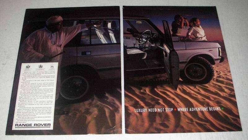 1984 Range Rover Ad - Luxury Need Not Stop
