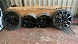 Audi R8 Gloss Black 19 Inch Alloy Wheels 5x112 8.5 Merc Vw Golf Audi