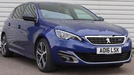 Peugeot 308 1.2 GT Line Petrol Automatic 5 Door Blue 2016