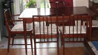 Solid cherry wood dining set