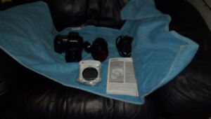OLYMPUS MODEL E-500 DIGITAL CAMERA WITH 2 LENS