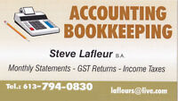 Steve Lafleur B.A. Accounting/Bookkeeping Services & Income Tax