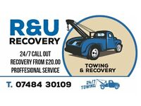 24/7 Car recovery service start from £20