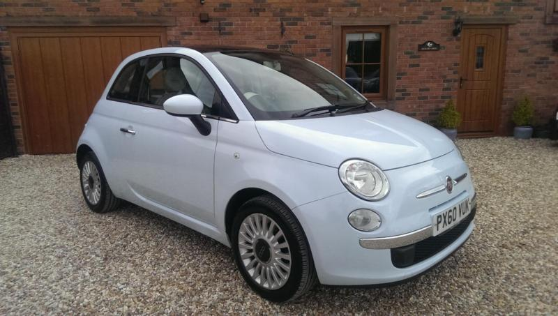 2010 fiat 500 1 2 lounge in baby blue in carlisle cumbria gumtree. Black Bedroom Furniture Sets. Home Design Ideas