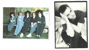 ORIGINAL POSTCARDS OF ROCK BAND THE CURE ~ 2 DIFFERENT
