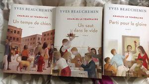 3 livres de Yves Beauchemin : Charles le téméraire , comme neuf