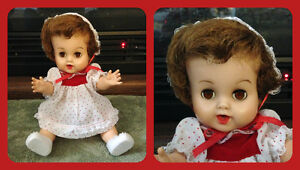 Tiny Tears Doll by Dee and Cee circa 1958 ~ Made in Canada