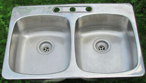 Kitchen Sink, WESSAN, Double stainless steel.