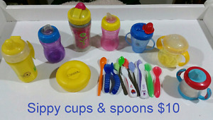 Sippy cups & spoons