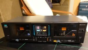 SANSUI D-99MW Dual Cassette Deck Rare Mint Condition Working