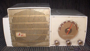 General Electric White Tube Musaphonic Radio - Vintage and Works