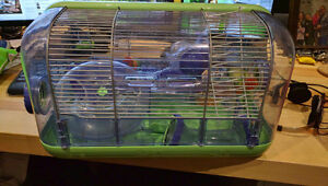 Hamster cage with some accessories