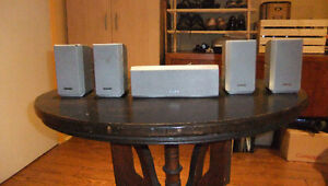Five small SONY Speakers for Home Theater Amplifier