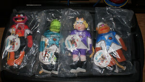 Muppets 1995 NHL Allstar game plush toys