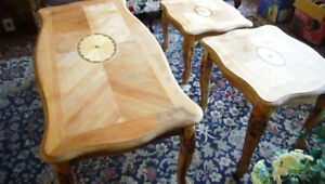 coffee table set | matching end tables|modern shabby chic decor