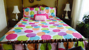 1 Queen Size Comforter with shams & 3 pillows