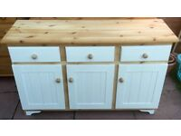 Solid pine farmhouse sideboard. Free delivery