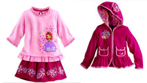 Authentic Disney Store Princess Sofia 3 Pc Set. Size: 2T