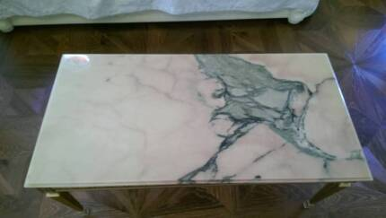 1890's antique French Louis XVI Marble& brass coffee Table $2,800