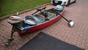 14' Square Stern Canoe / Fishing Package