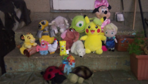 Official Genuine Walt Disney Stuffed Toys!  Whole lot for $25!!