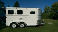 Like New American 2 horse trailer with storage and saddle racks