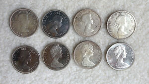 Canadian Silver Dollars (8) 1960 - 1967 Kingston Kingston Area image 2