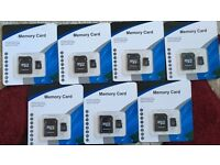 Job lot 7x micro SD 32gb memory cards new