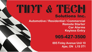 NOW OPEN * NOW OPEN * TINT & TECH SOLUTIONS * NOW OPEN* NOW OPEN