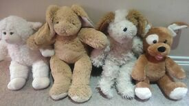 Bundle of Build-A-Bear Bears, Clothes, Shoes, and Accessory