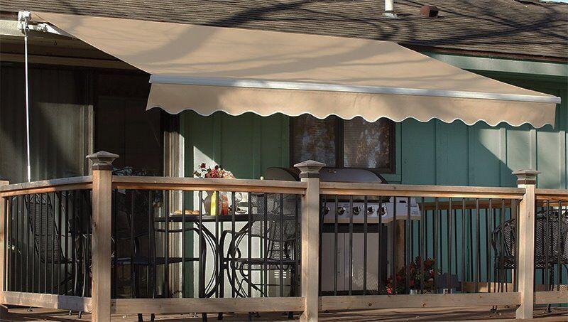 Outdoor 12 215 10 Manual Retractable Patio Deck Awning Sun