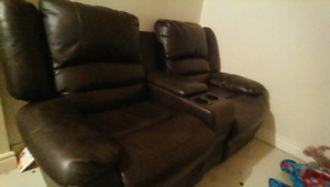 New leather 2 seater