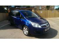 2008 VAUXHALL ZAFIRA 1.6 16v ( 105ps ) EXCLUSIV 7 SEATER IN BLUE
