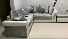 Silver Crushed Velvet with white free local delivery