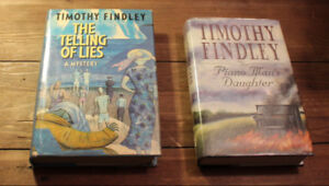 Timothy Findley - 2 Signed 1st Ed Inc. The Piano Man's Daughter