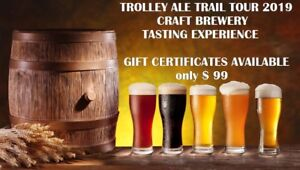 CRAFT BEER BUS TOUR TO BREWERIES - GIFT CERTIFICATES