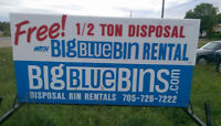 Dumpster/Disposal Bin Rentals @ flat rate fees NO EXTRA CHARGES