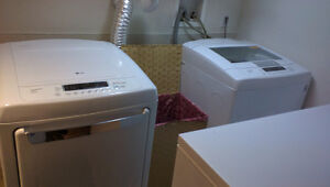 LG Top Loader Washer and Drier Set