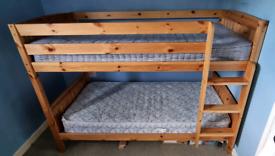 Pine single bunk bed