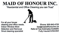 Maid of Honour Inc. Cleaning Lady.