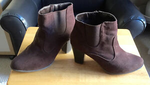 WOW - Brown Suede Booties for Fall
