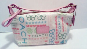 COACH:  Pastel Butterfly Baguette/Cosmetic Bag...NEW !!!