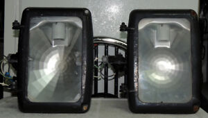 lamp with high pressure sodium for outdoor lighting. Adjustable