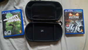 Psvita games and 4gb memory card.