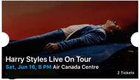 Harry Styles Live on Tour, 2 Concert Tickets