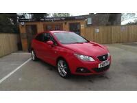 2010 SEAT IBIZA 1.6 TDI CR SPORT COUPE RED £30 ROAD TAX